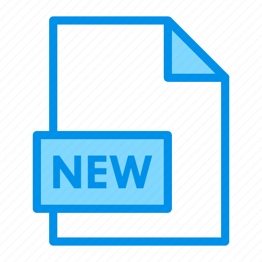 document, extension, file, format, new icon