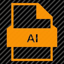 ai file, document, eps, eps file, file format, illustrator, vector files icon