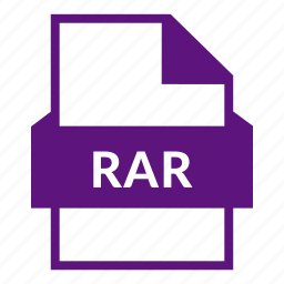 archive, compress, document, extension, file format, rar, rar file icon