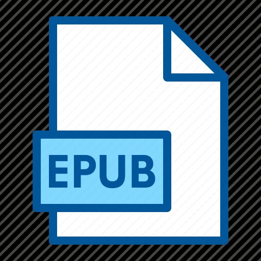 document, epub, extension, file, format icon