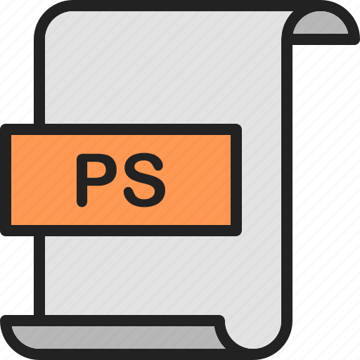 adobe, document, extension, file, format, page, ps icon