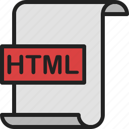 code, document, extension, file, format, html, page icon