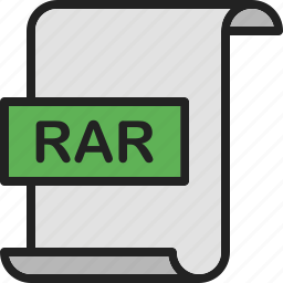 compression, document, extension, file, format, page, rar icon