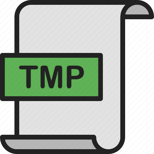 document, extension, file, format, page, temporary, tmp icon