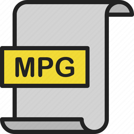 document, extension, file, format, mpg, page, video icon