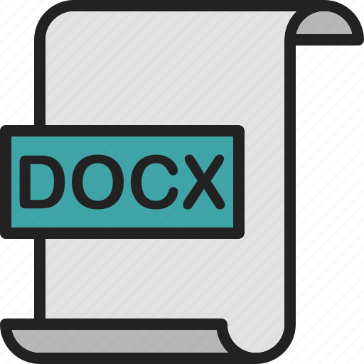 document, docx, extension, file, format, page, word icon