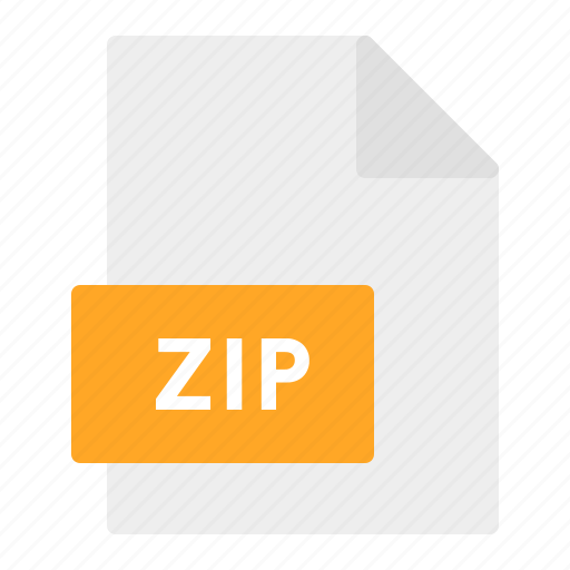 document, extension, file, format, zip icon
