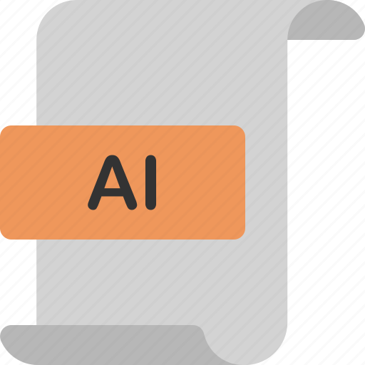 ai, document, extension, file, format, illustrator, page icon