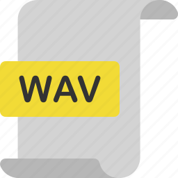 document, extension, file, format, music, page, wav icon
