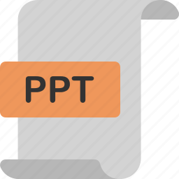 document, extension, file, format, page, power point, ppt icon