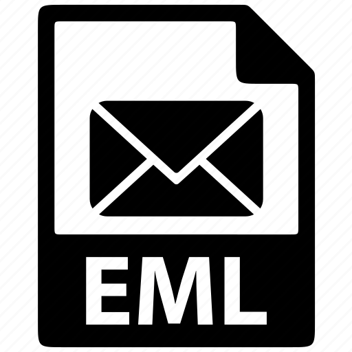 document, email, eml, extension, file, format icon