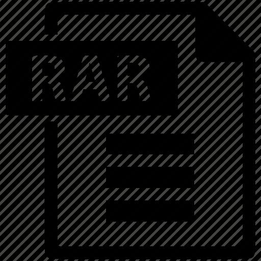 document, extension, file, format, rar, zip icon