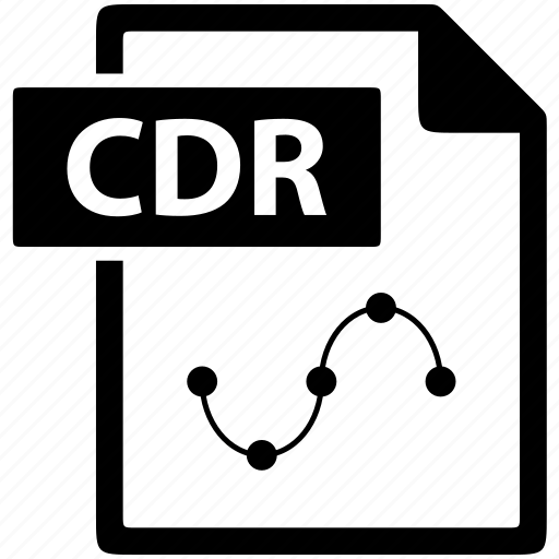 cdr, document, eps, extension, file, format icon