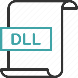 dll, document, extension, file, format, page icon