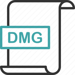 dmg, document, extension, file, format, page icon