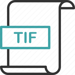 document, extension, file, format, image, page, tif icon