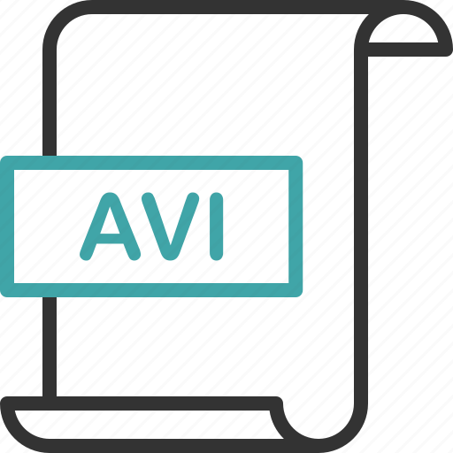 avi, document, extension, file, format, page, video icon