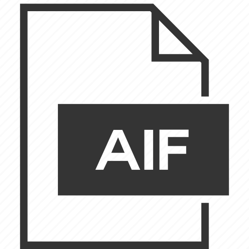 aif, extension, file format icon