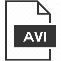 avi, extension, file format, movie, video icon