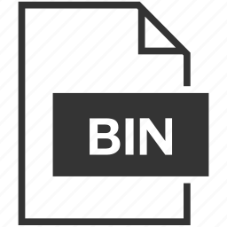bin, extension, file format icon