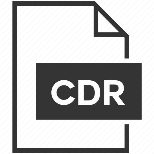 cdr, extension, file format icon