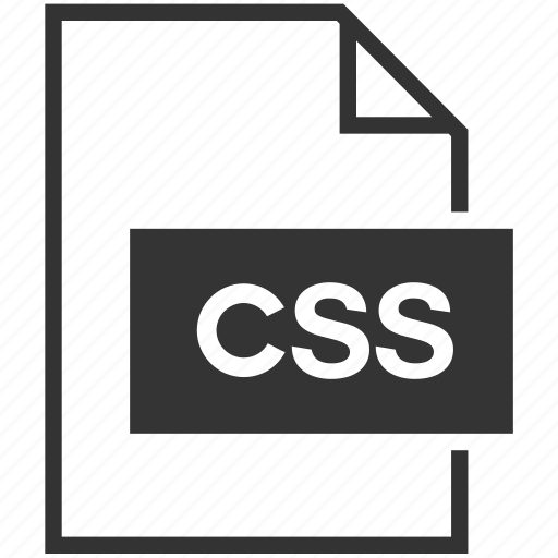 cascading style sheet, css, extension, file format icon
