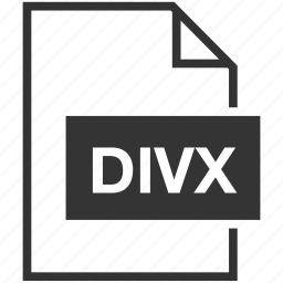 divx, extension, file format, video icon