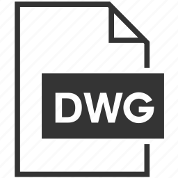 dwg, extension, file format icon