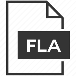 extension, file format, fla, flash icon