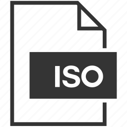 extension, file format, iso icon