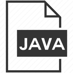 extension, file format, java icon