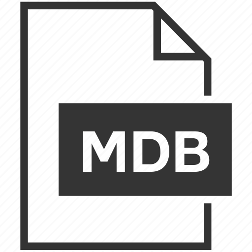 extension, file format, mdb icon