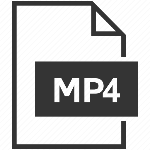 extension, file format, mp4, video icon