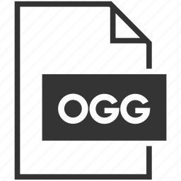 audio, extension, file format, ogg, video icon