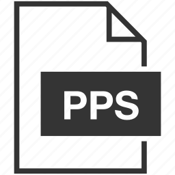 extension, file format, pps icon