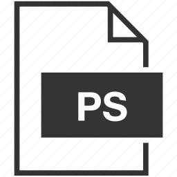 adobe photoshop, document, extension, file format, ps icon