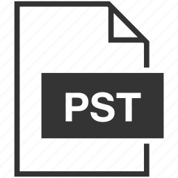 extension, file format, pst icon