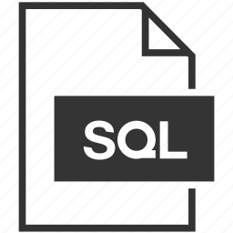 database, document, extension, file format, sql icon