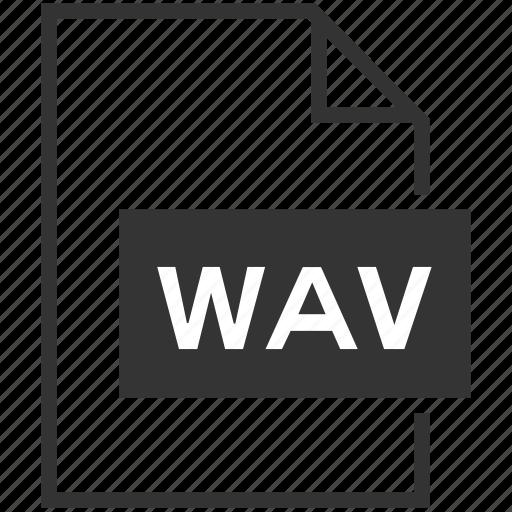 audio, extension, file format, media, wav icon