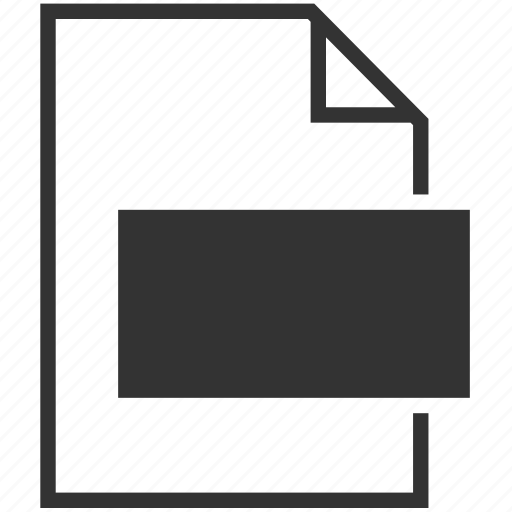 blank, extension, file format, new file icon