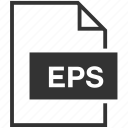 eps, extension, file format icon