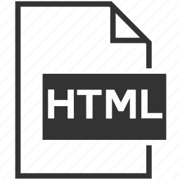 extension, file format, html icon