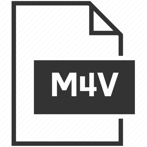 extension, file format, m4v, video icon