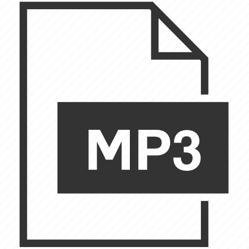 audio, extension, file format, mp3 icon