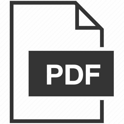 extension, file format, pdf, portable document icon