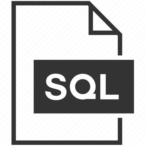 database, extension, file format, sql icon