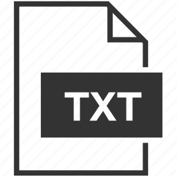 document, extension, file format, txt icon