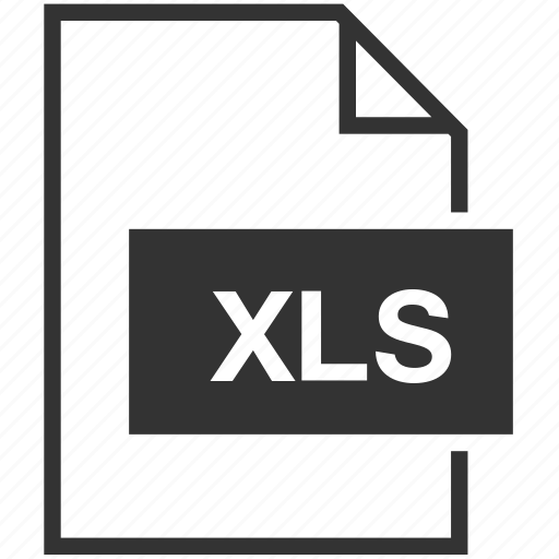 document, extension, file format, xls icon