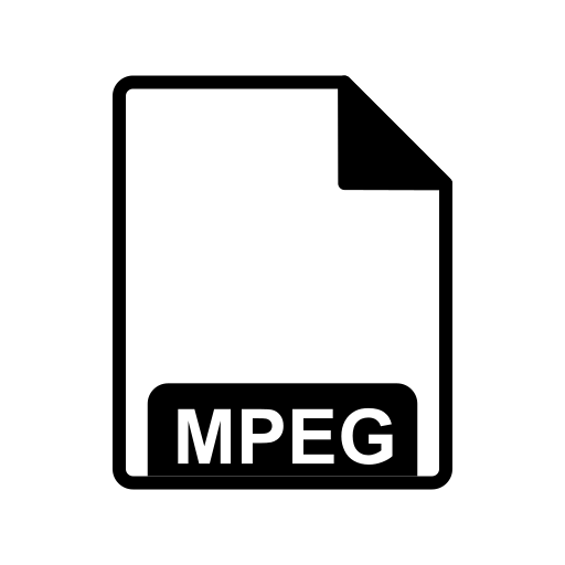 extension, fie type, mpeg icon