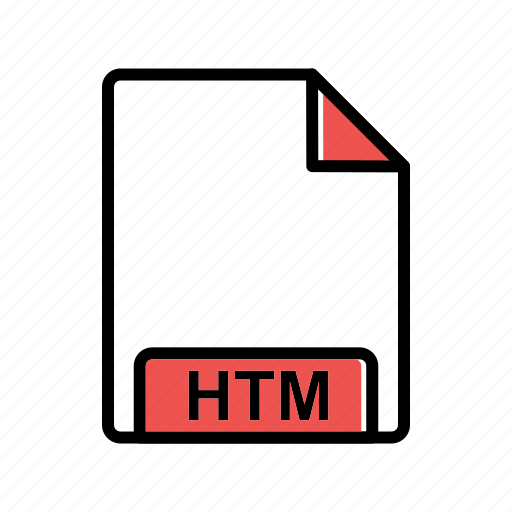 extension, fie type, htm icon